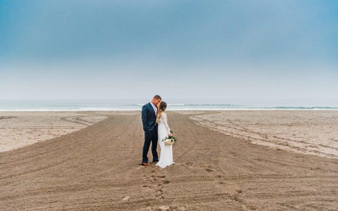 Brooke + Brandon :: Rainy Day Beach Wedding :: Oceanside, CA