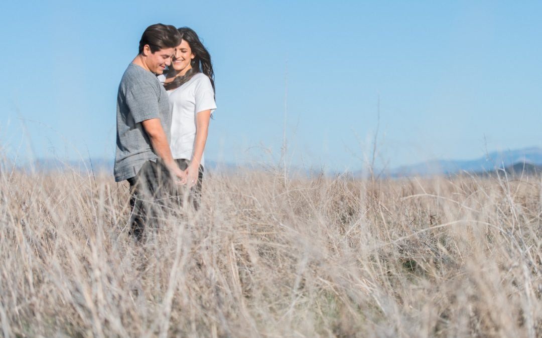 Dreamy Field Engagement in Fallbrook, California