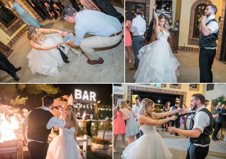 Dancing at the reception at Lake Oak Meadows.