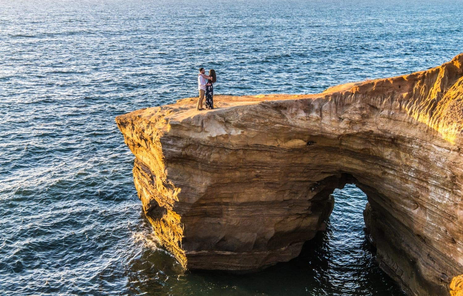 Engagement photography at Sunset Cliffs in San Diego.