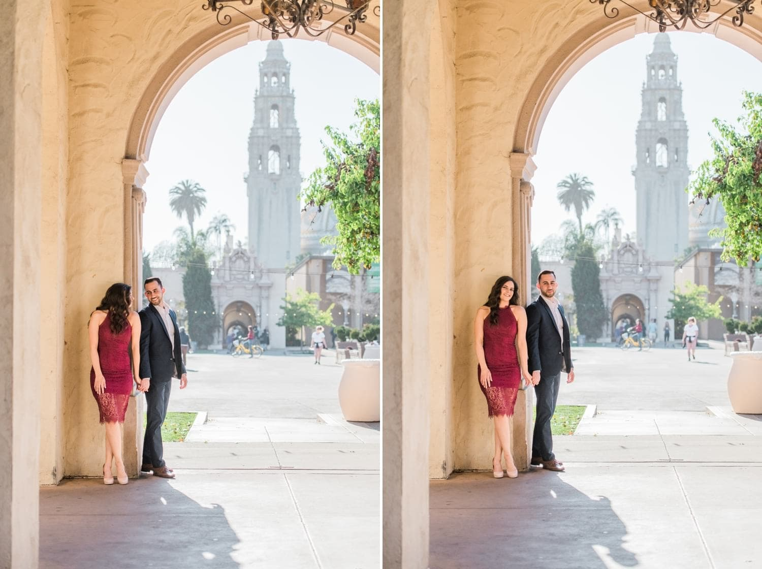 Engagement photos in San Diego at Balboa Park.
