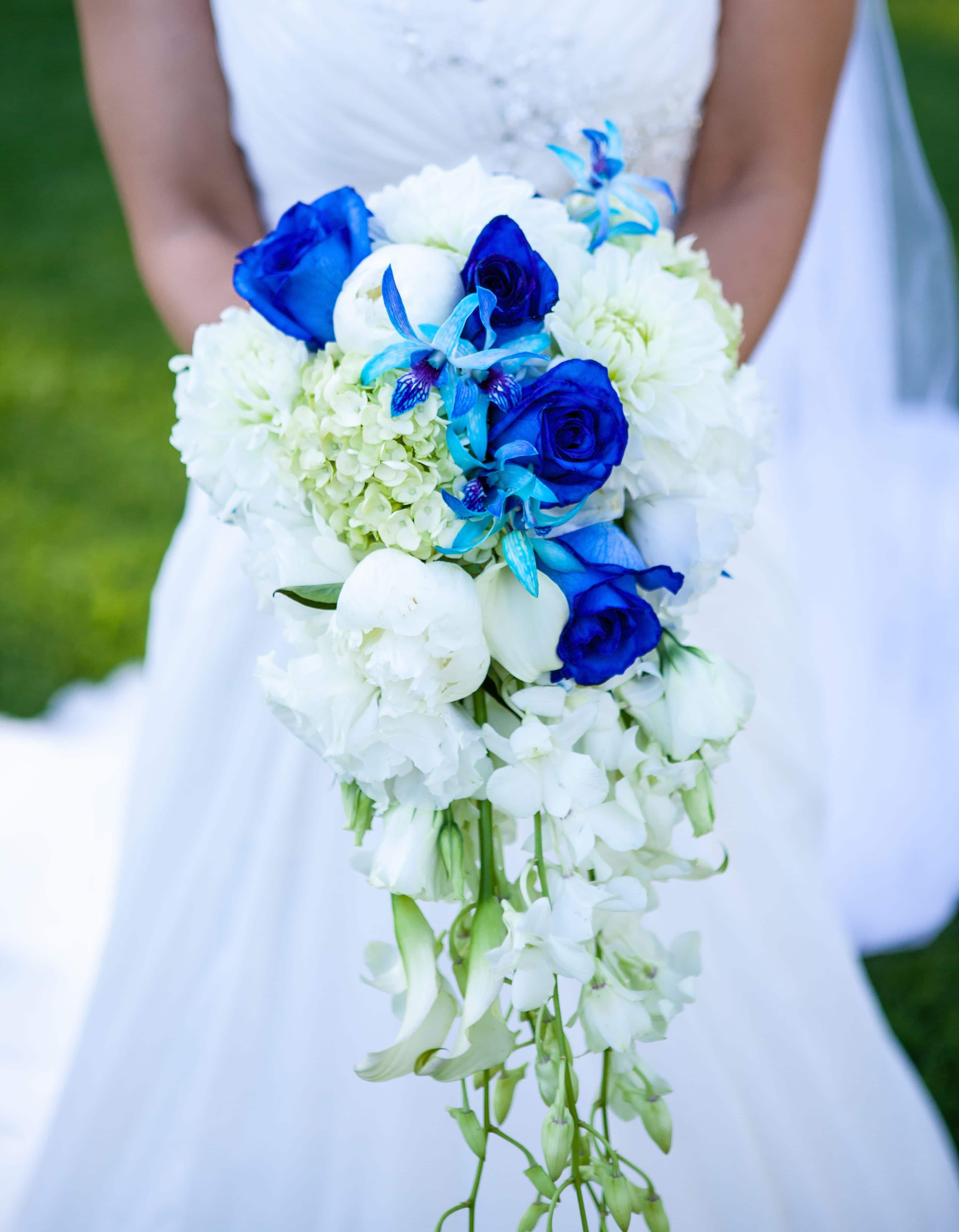 Brides bouquet at her wedding.