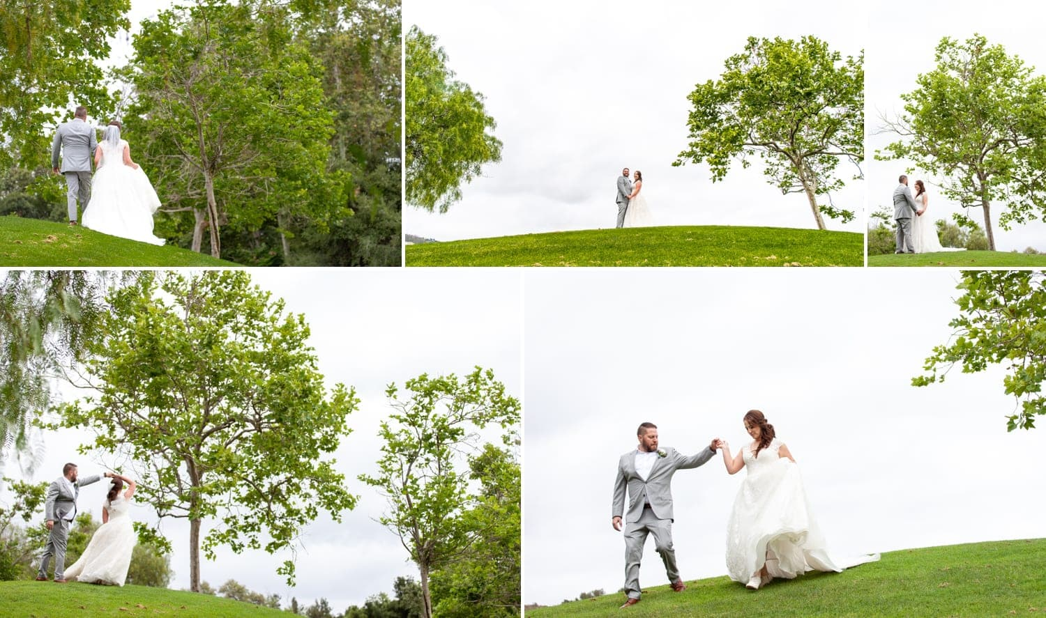 Couple standing on top of a hill at Twin Oaks Golf Course.