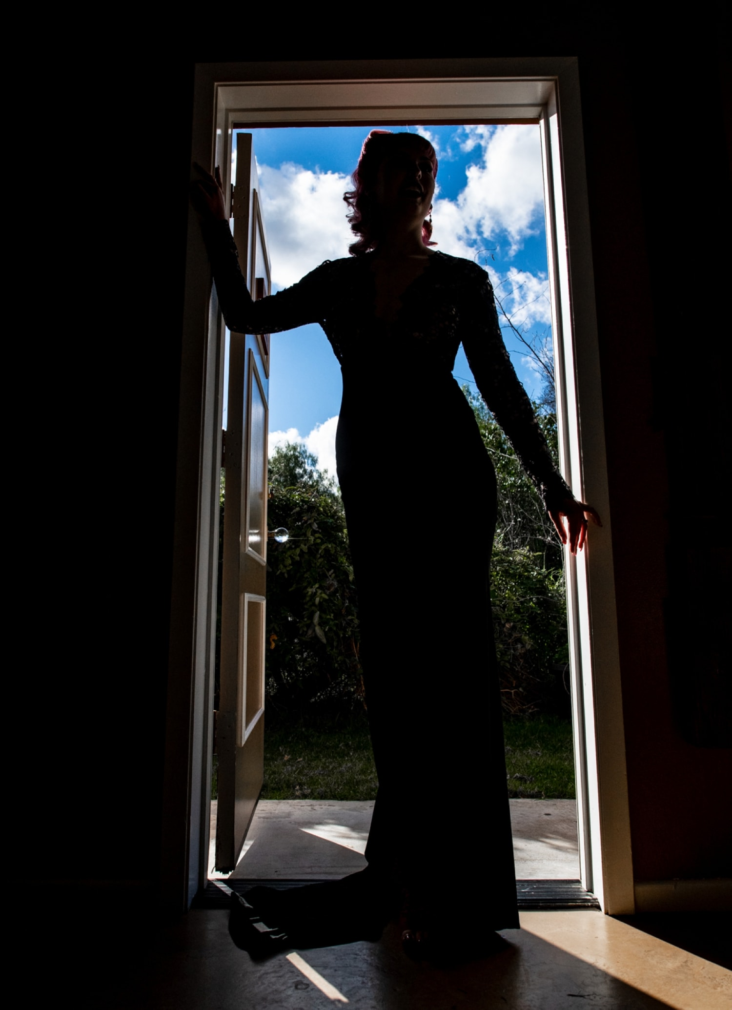 bride silhouette photograph