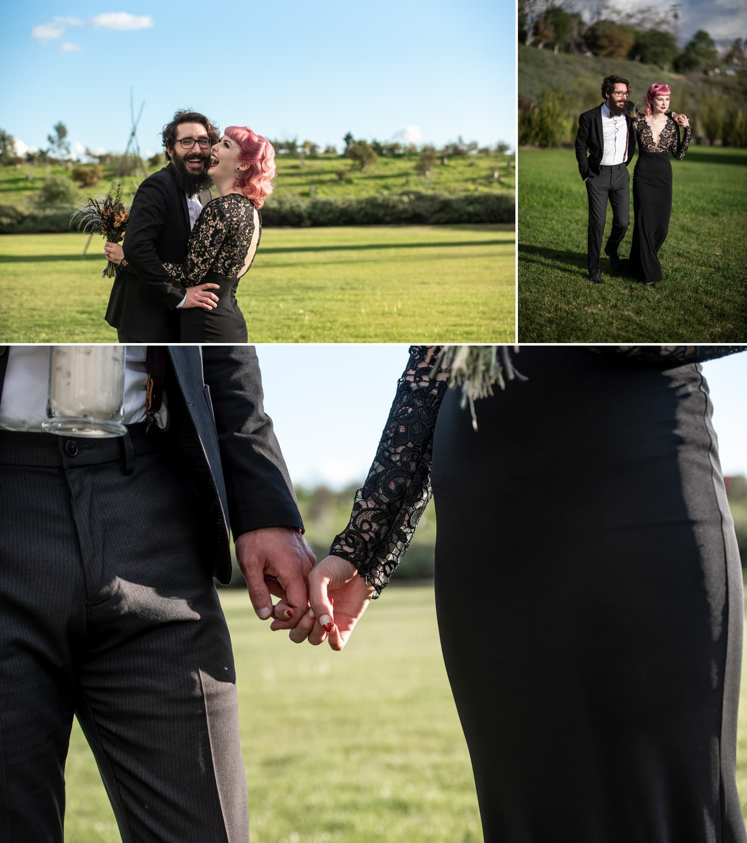 couples wedding portraits at ethereal open air resort