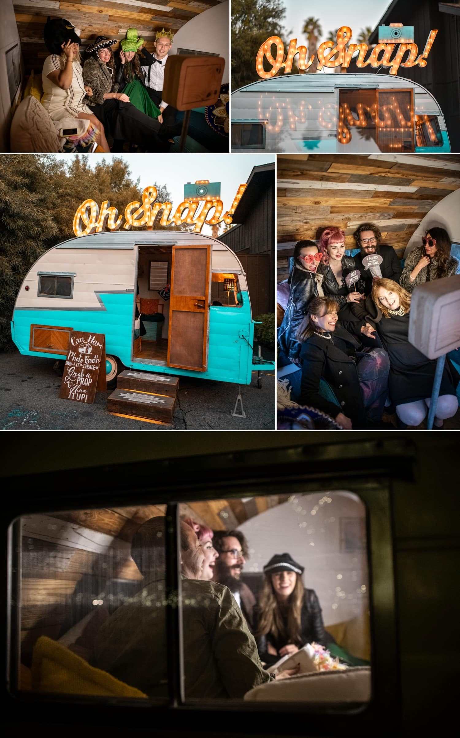 vintage photo booth trailer at ethereal open air resort