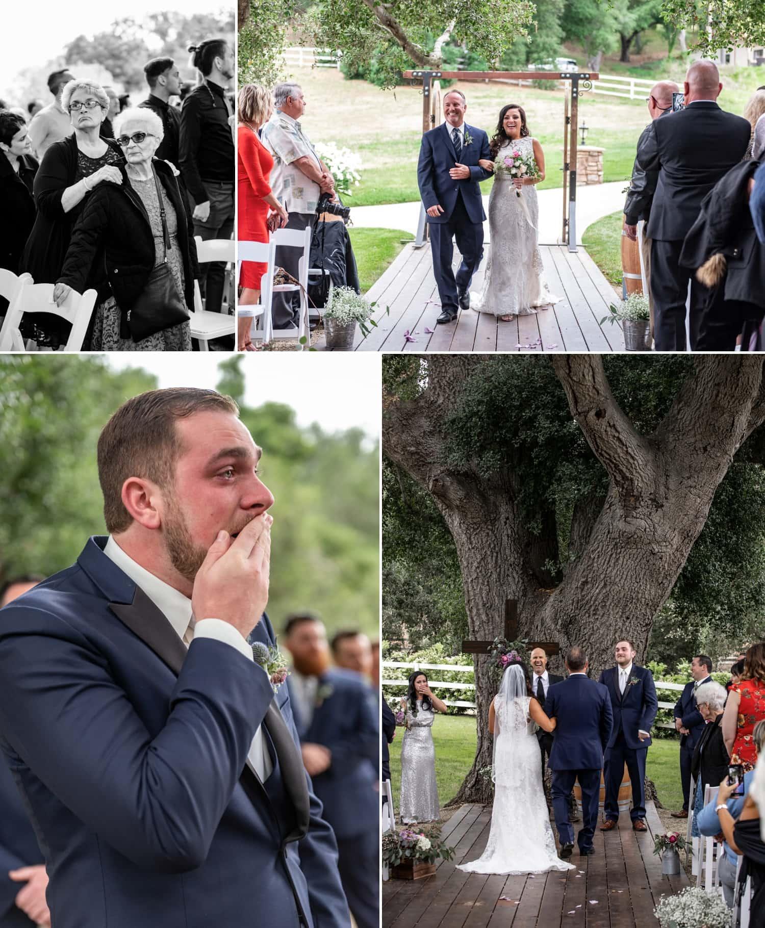 Wedding ceremony at Circle Oak Ranch in Temecula.