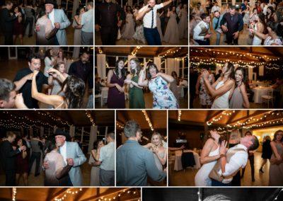 Wedding guests dancing at Cordiano Winery.