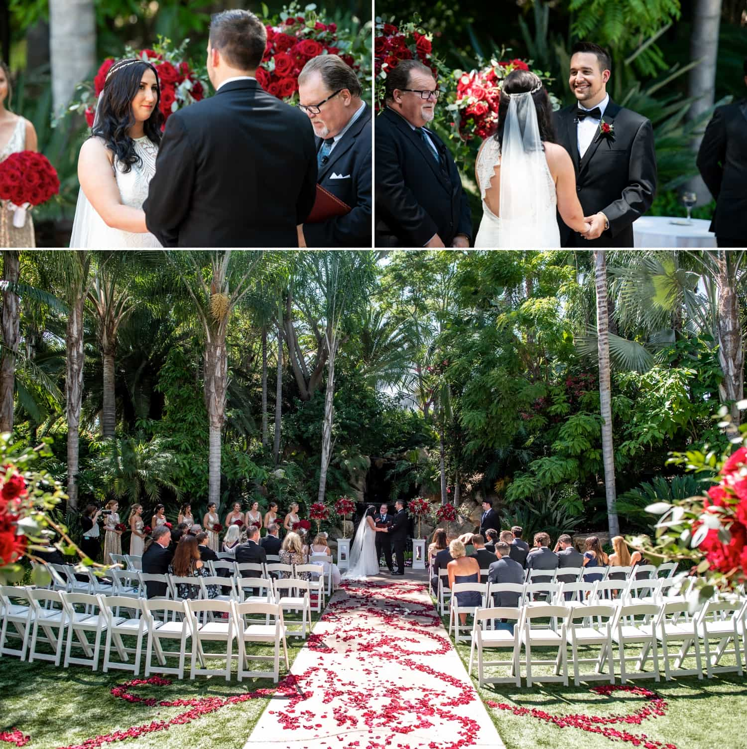 Wedding ceremony at Grand Tradition Estate.