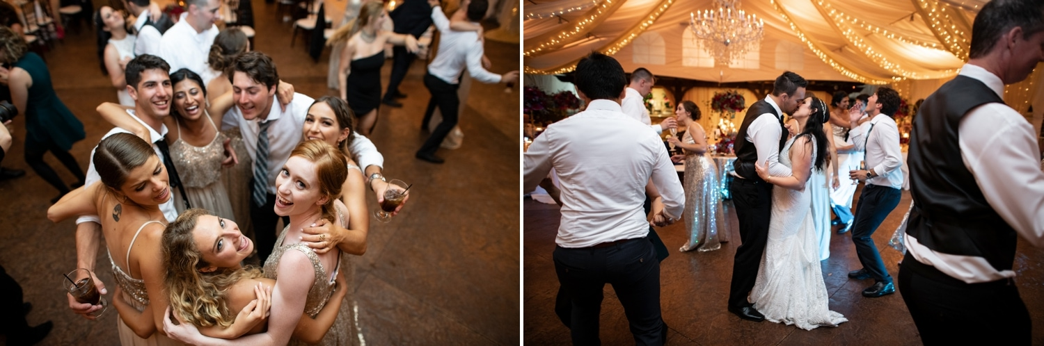 Bride and groom dancing at Arbor Terrace wedding.