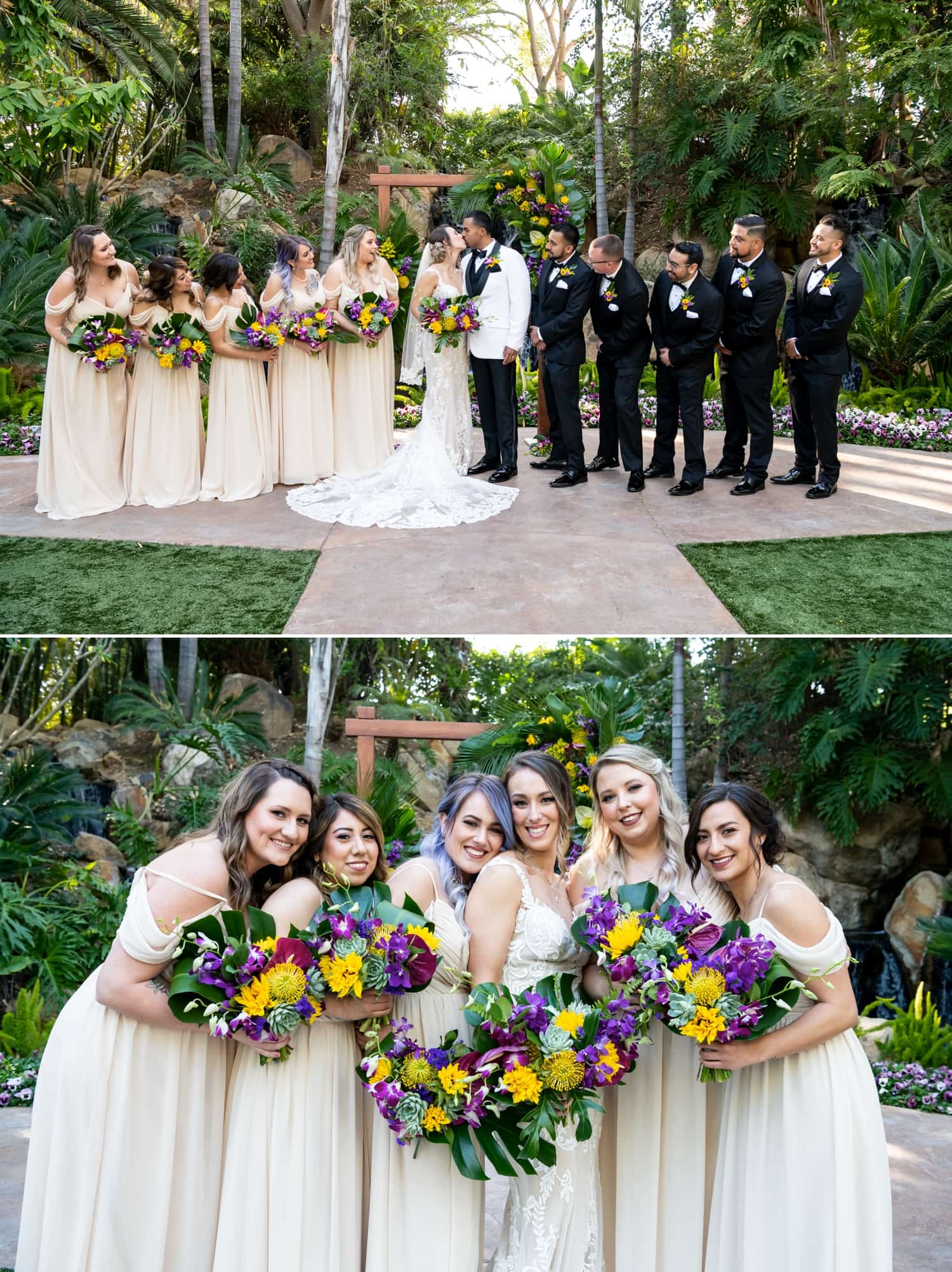 Bridal party at Grand Tradition Estate in Fallbrook.