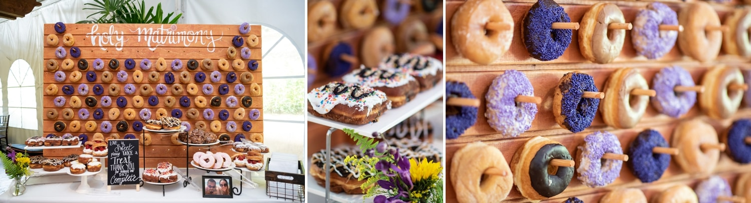 Donut bar at Grand Tradition's Arbor Terrace.