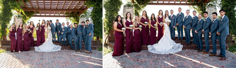 Bridal party at Lorimar Winery.