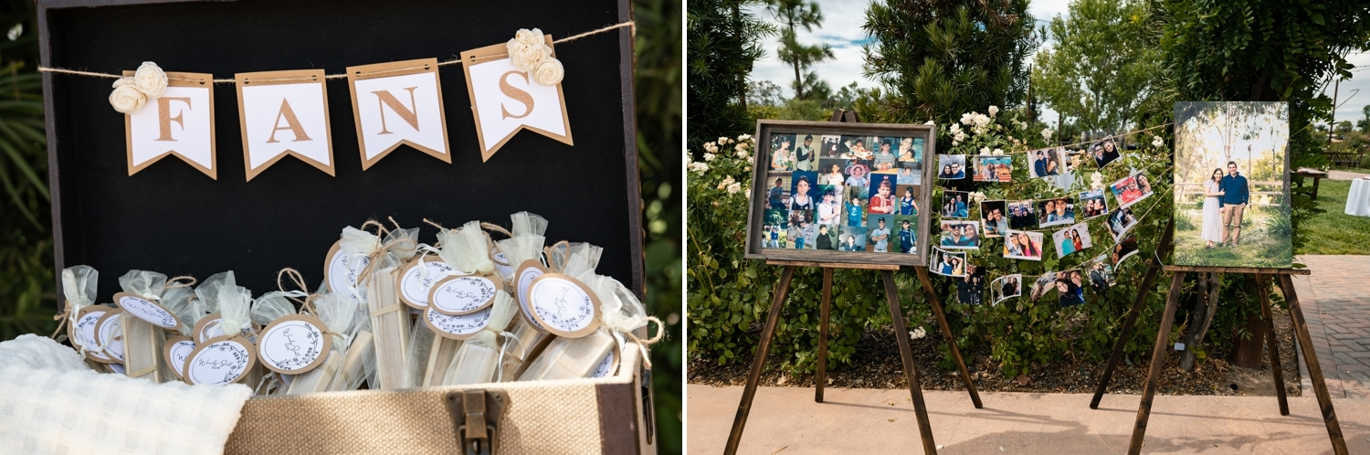 Reception details at Lorimar Winery.