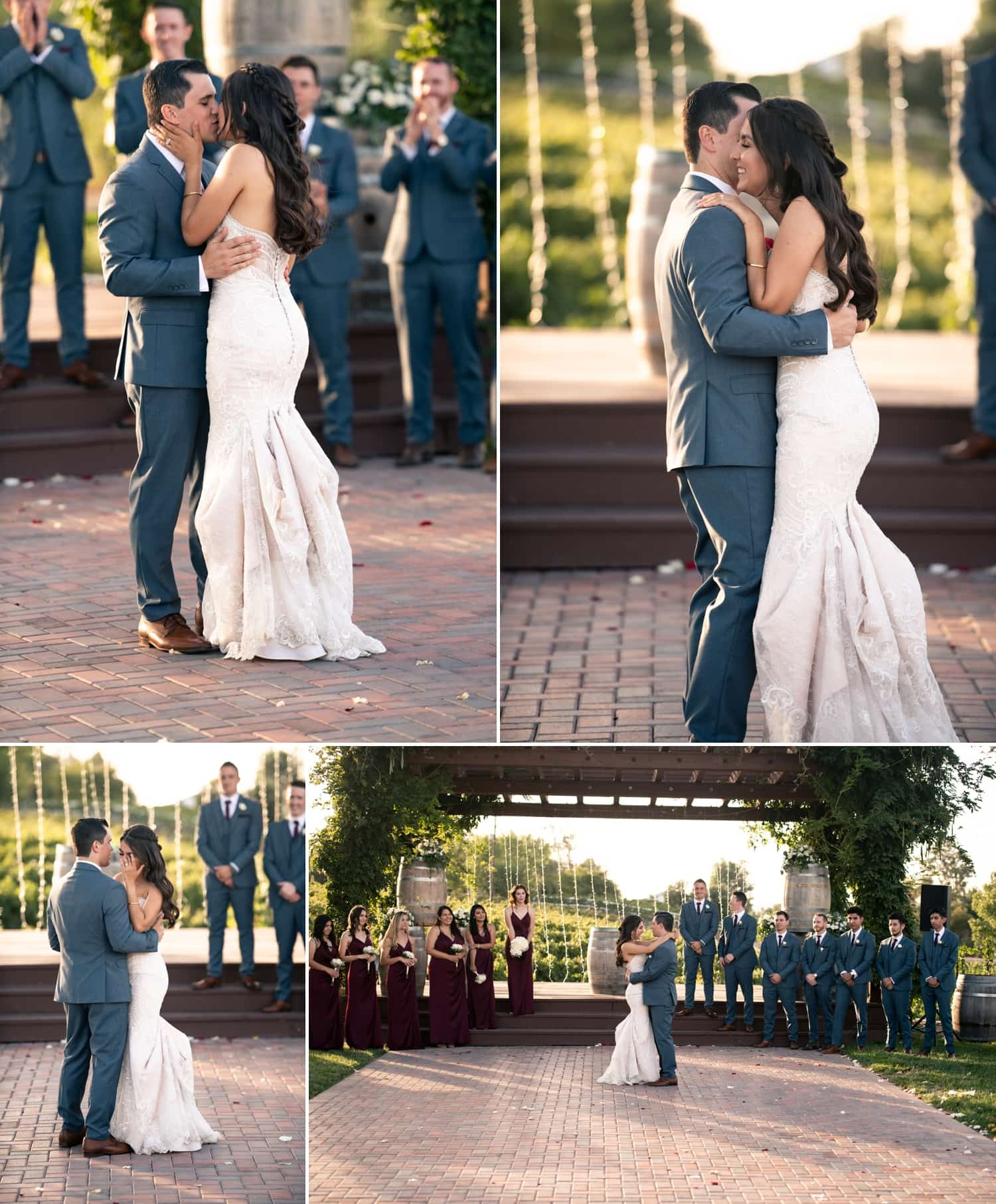 Couple dancing at their Lorimar Winery wedding.