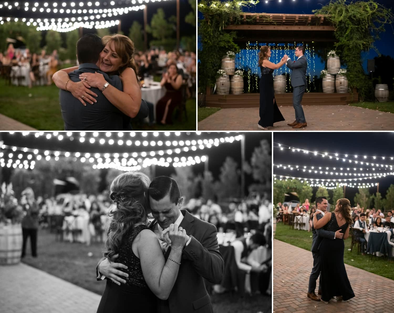 Mother and son dancing at Lorimar Winery wedding.
