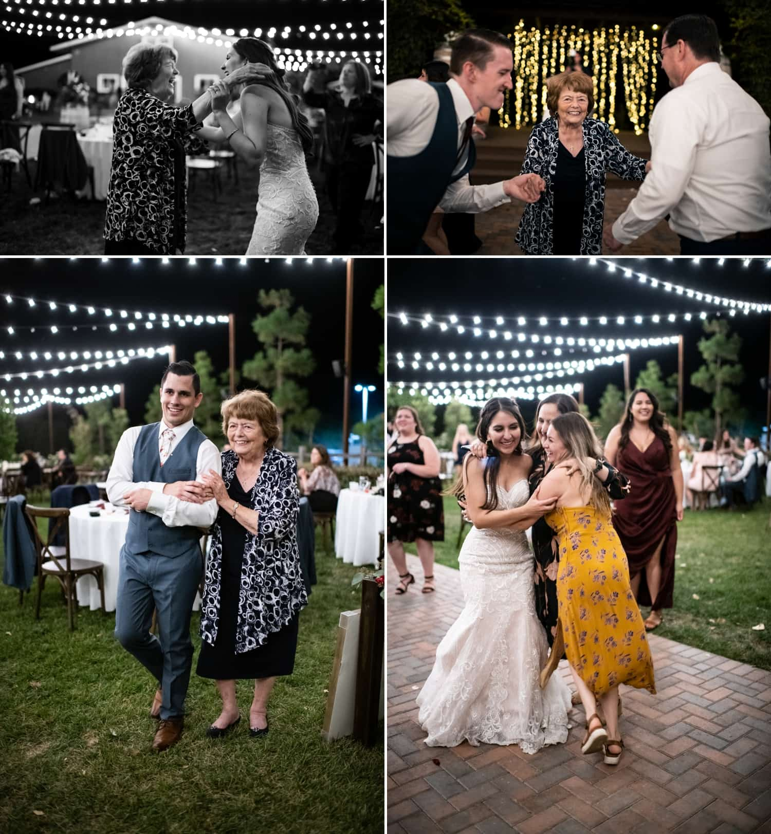 Bride dancing with her Grandma at her wedding.