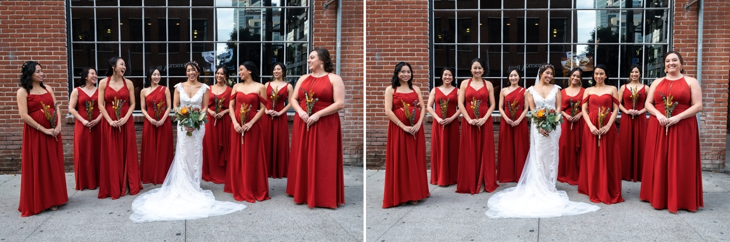 Bridal party in San Diego.