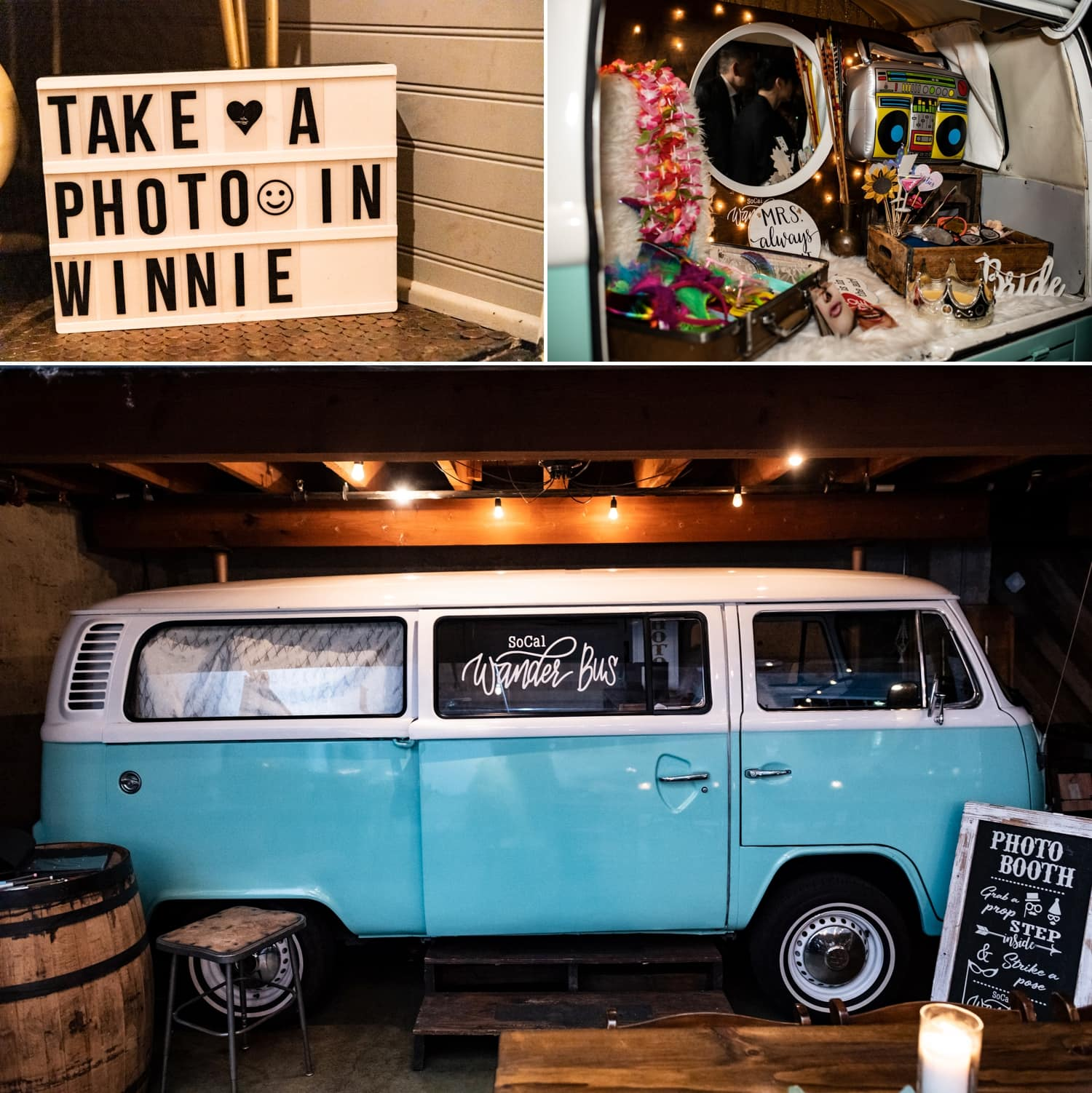 Photo booth van at Luce Loft in San Diego.