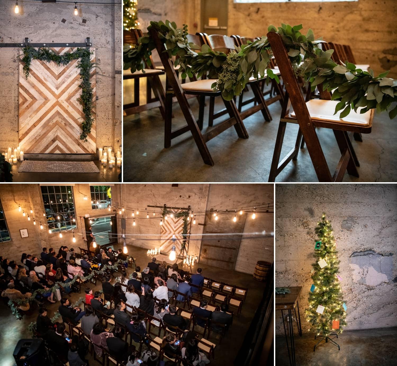 Wedding ceremony at Luce Loft in San Diego.