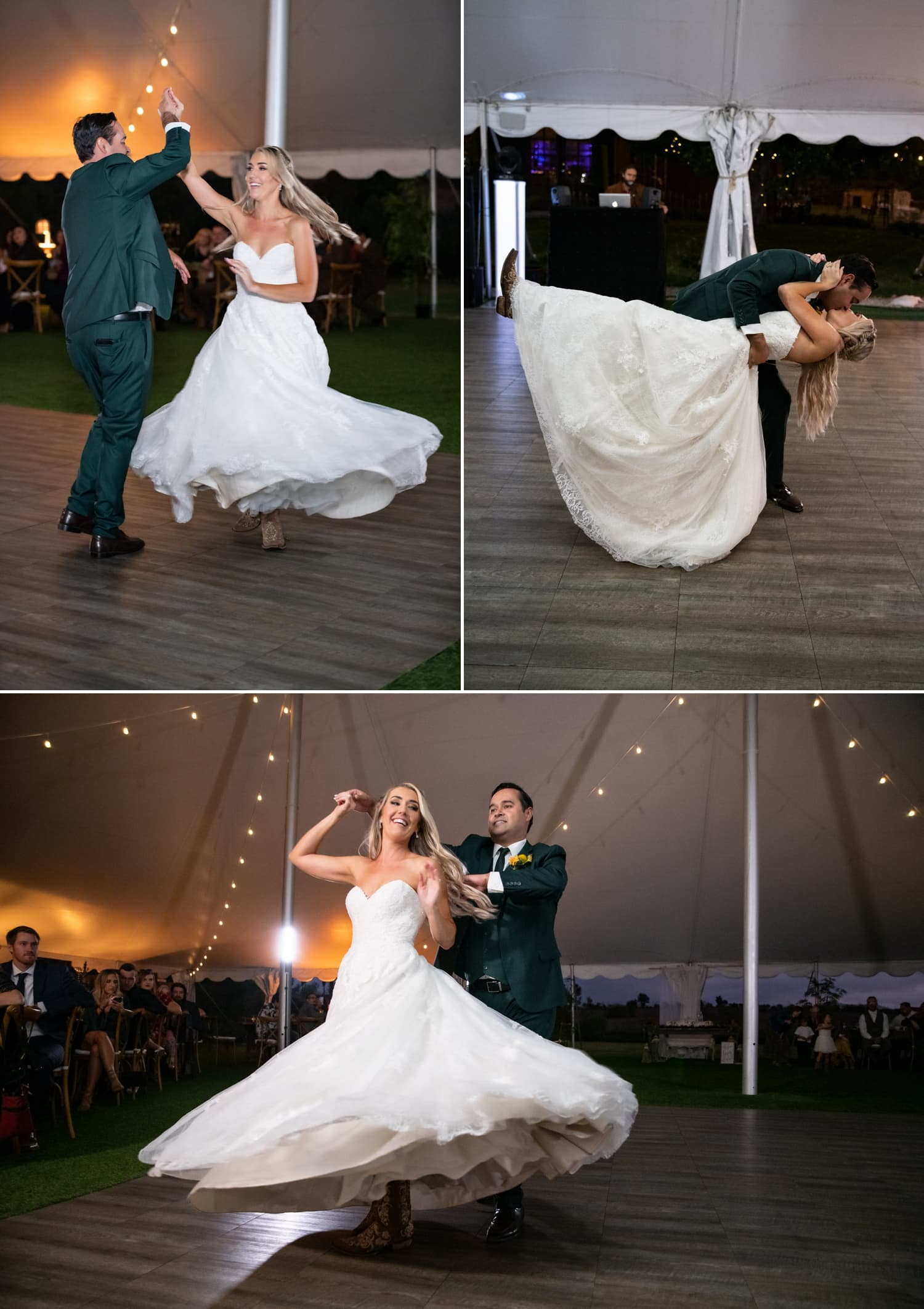 Bride and groom's first dance at Ethereal Gardens wedding.
