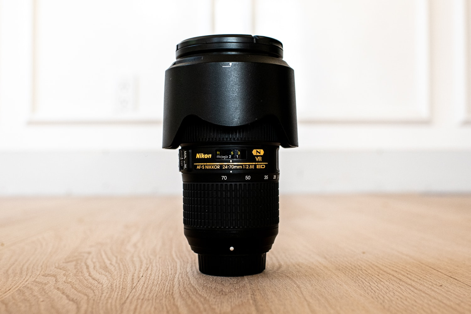 Nikkor 24-70mm lens for weddings.