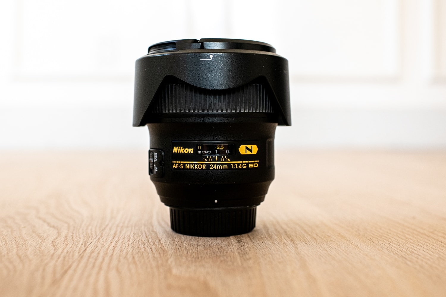 Nikkor 24mm 1.4 lens for wedding photography.