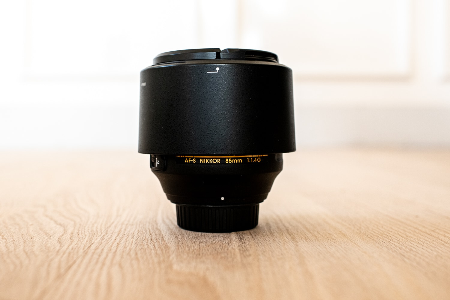 Nikkor 85mm lens for wedding photography.