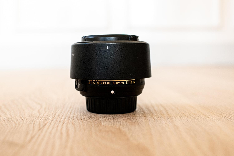 Nikkor 50mm lens for wedding photography.