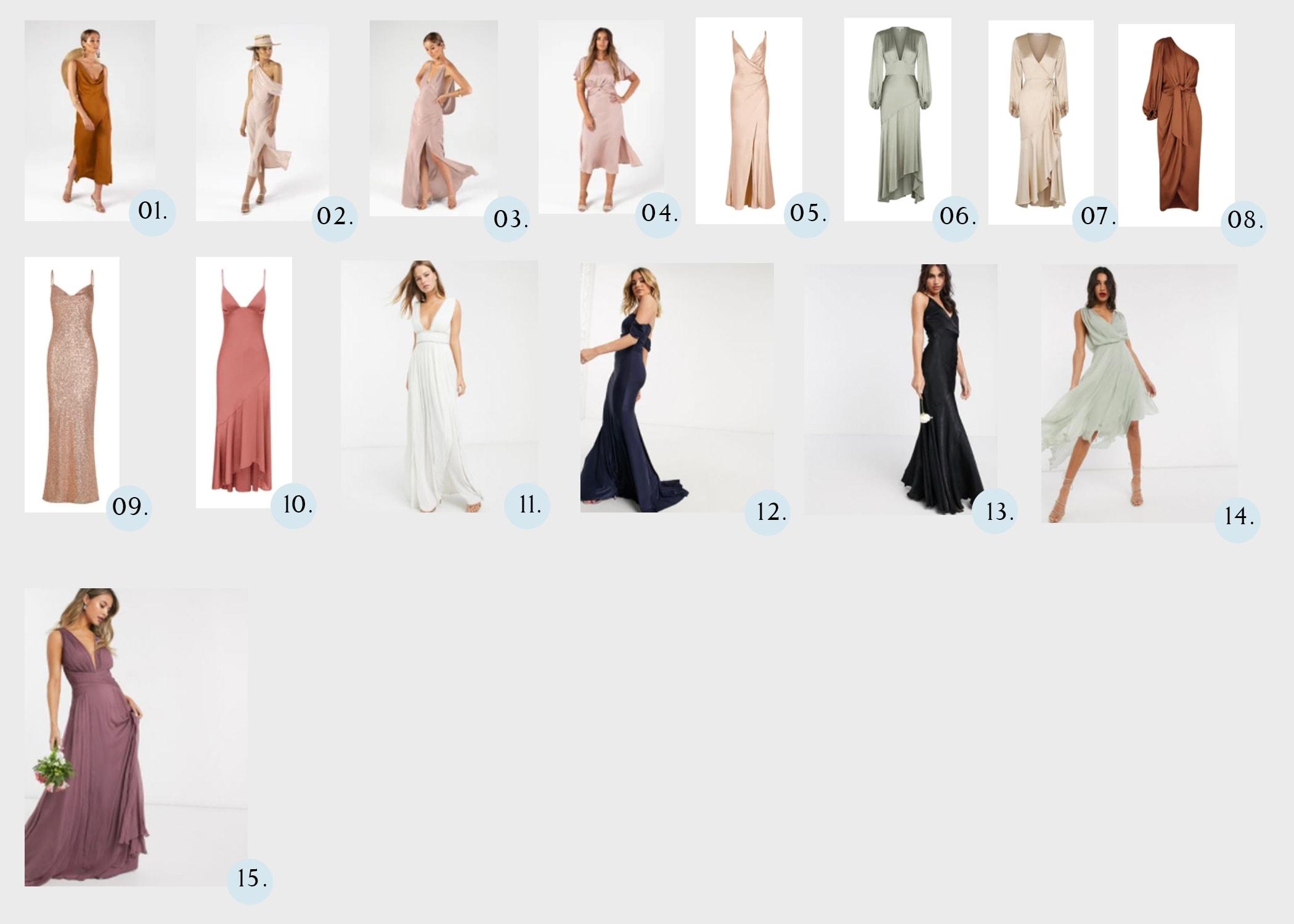 various bridesmaids dresses for 2021
