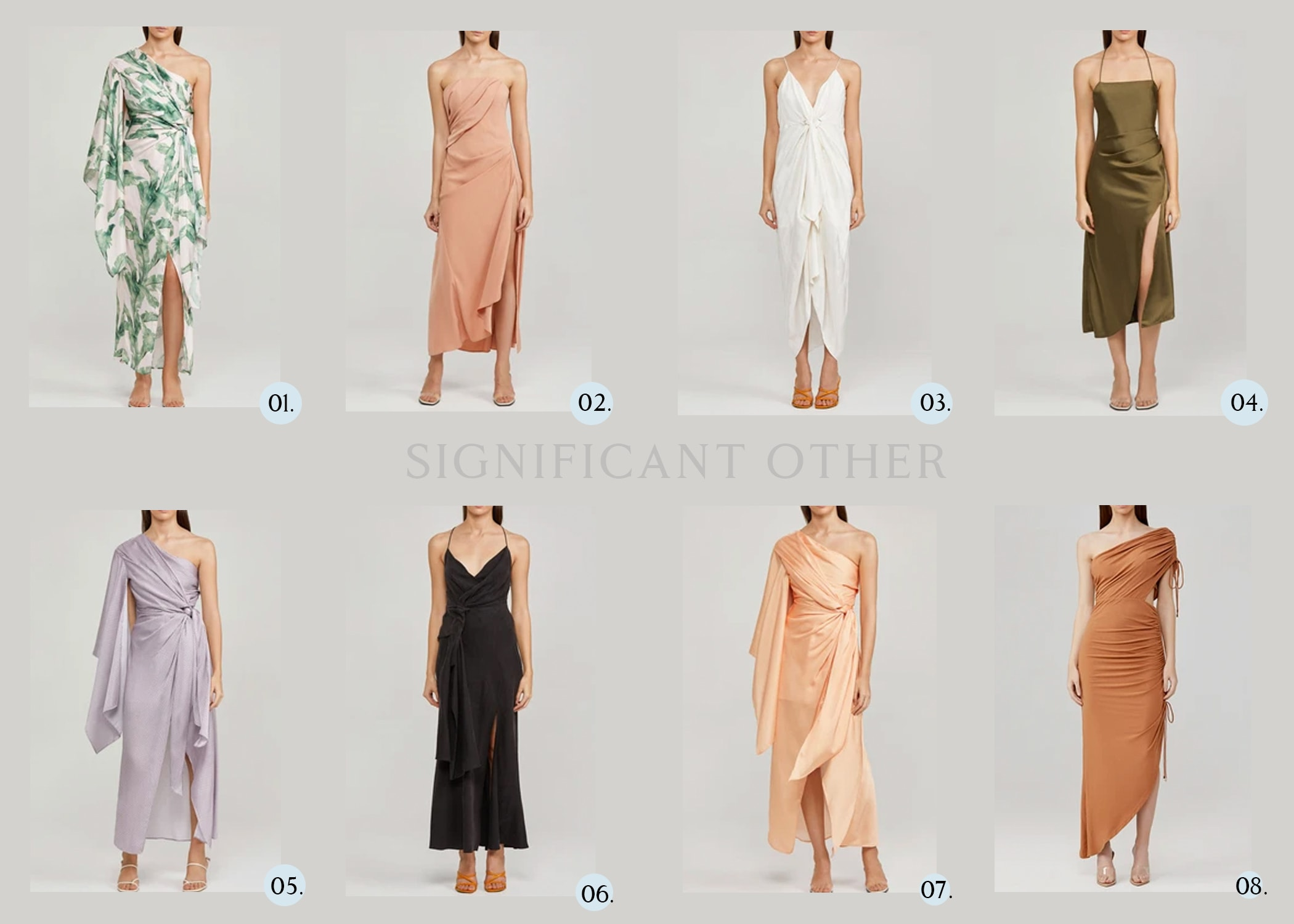 significant other fashion label bridesmaids dresses