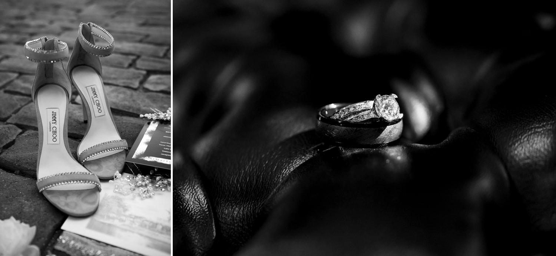 Bride and groom's wedding details at Lake Oak Meadows in Temecula.