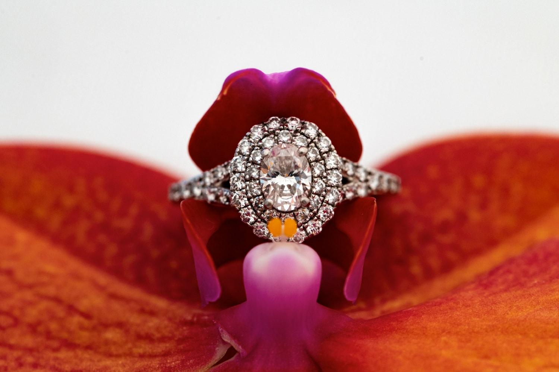 Wedding Ring in a flower