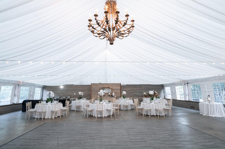 Reception space at Botanica a Trademark wedding venue