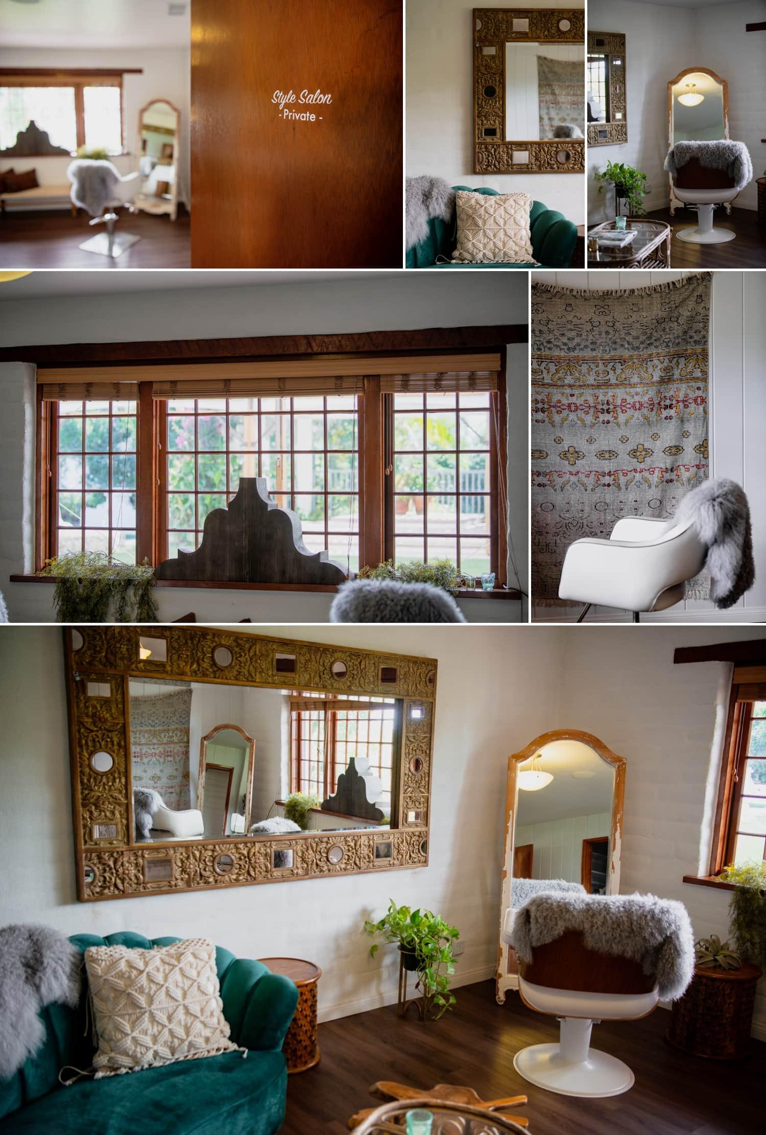 Style salon at Tivoli Italian Villa in Fallbrook
