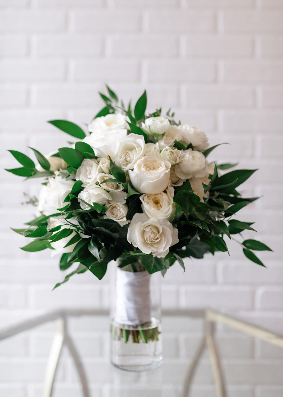 Brides Bouquet of white roses