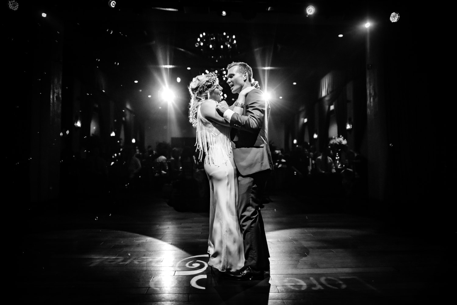 Bride and groom first dance at Padua Hills Theatre