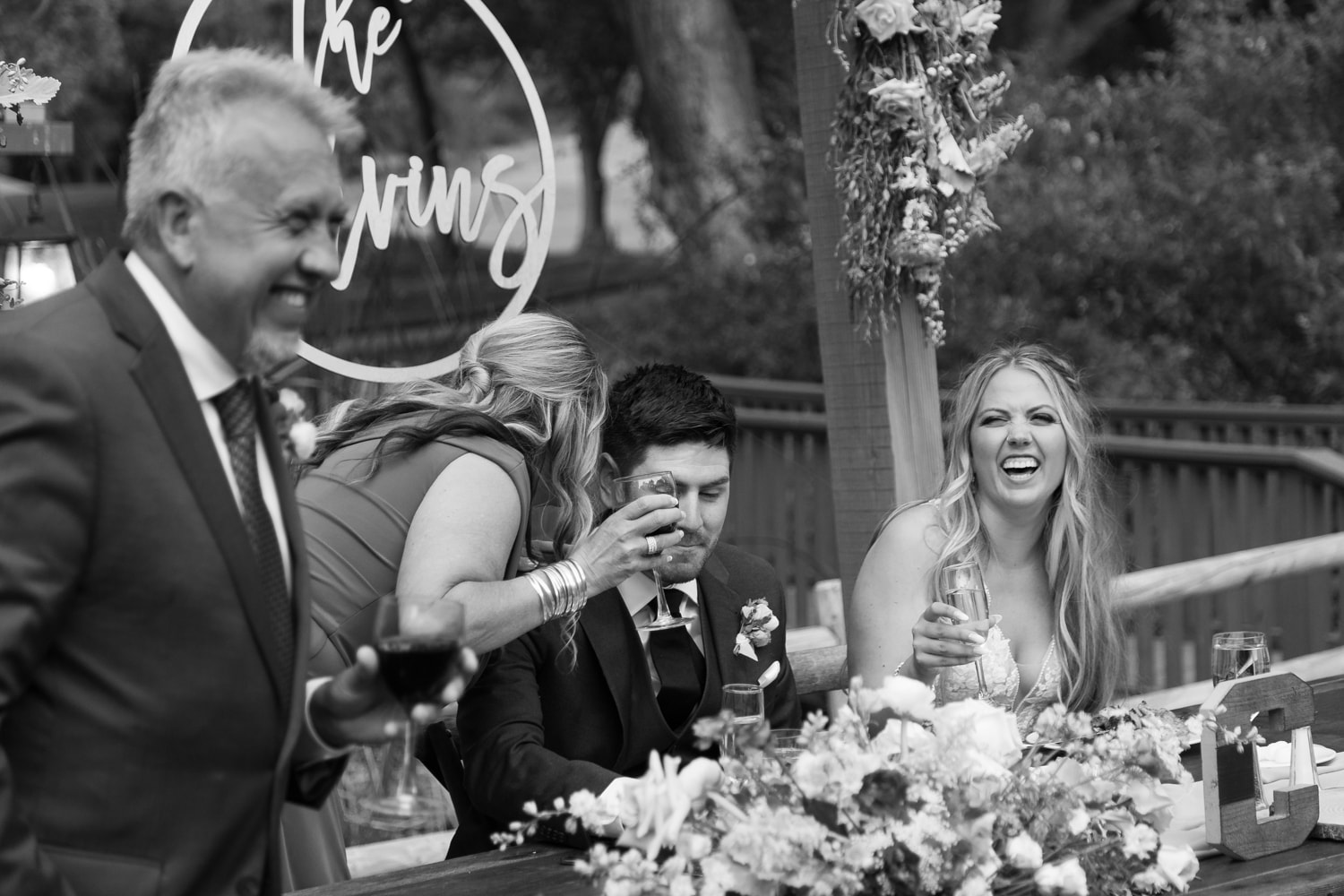 Toasts at The Stone House wedding venue