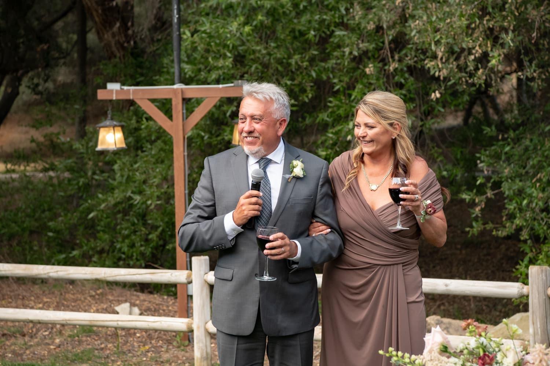 Wedding toasts at The Temecula Creek Inn