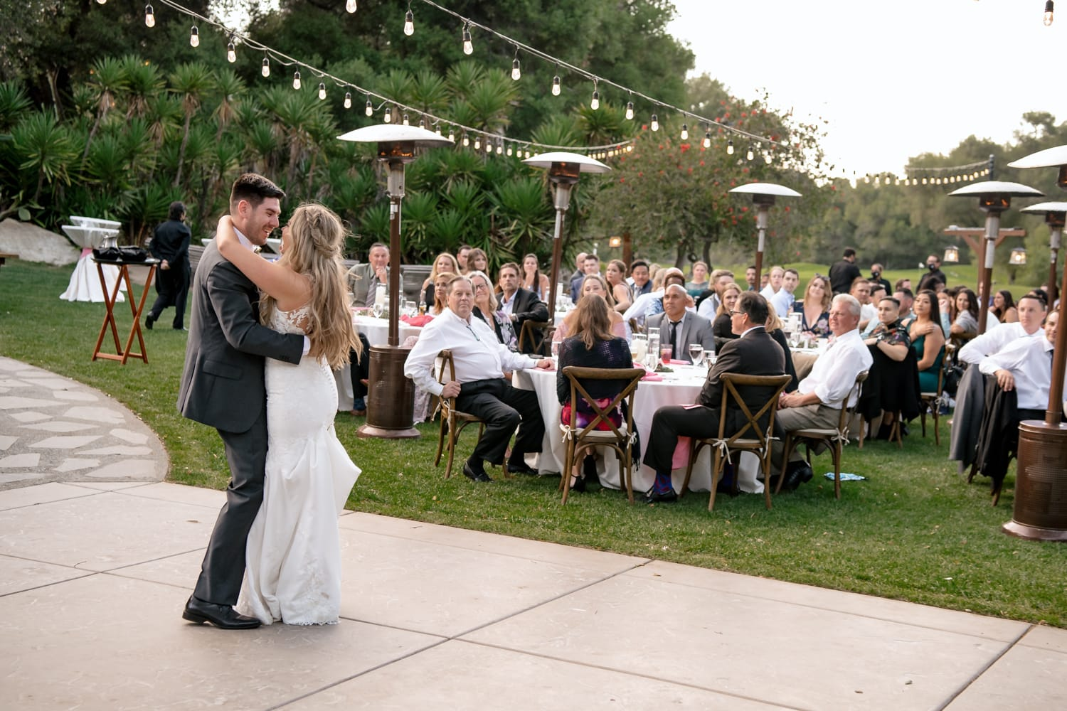 Couples first dance at The Stone House wedding reception