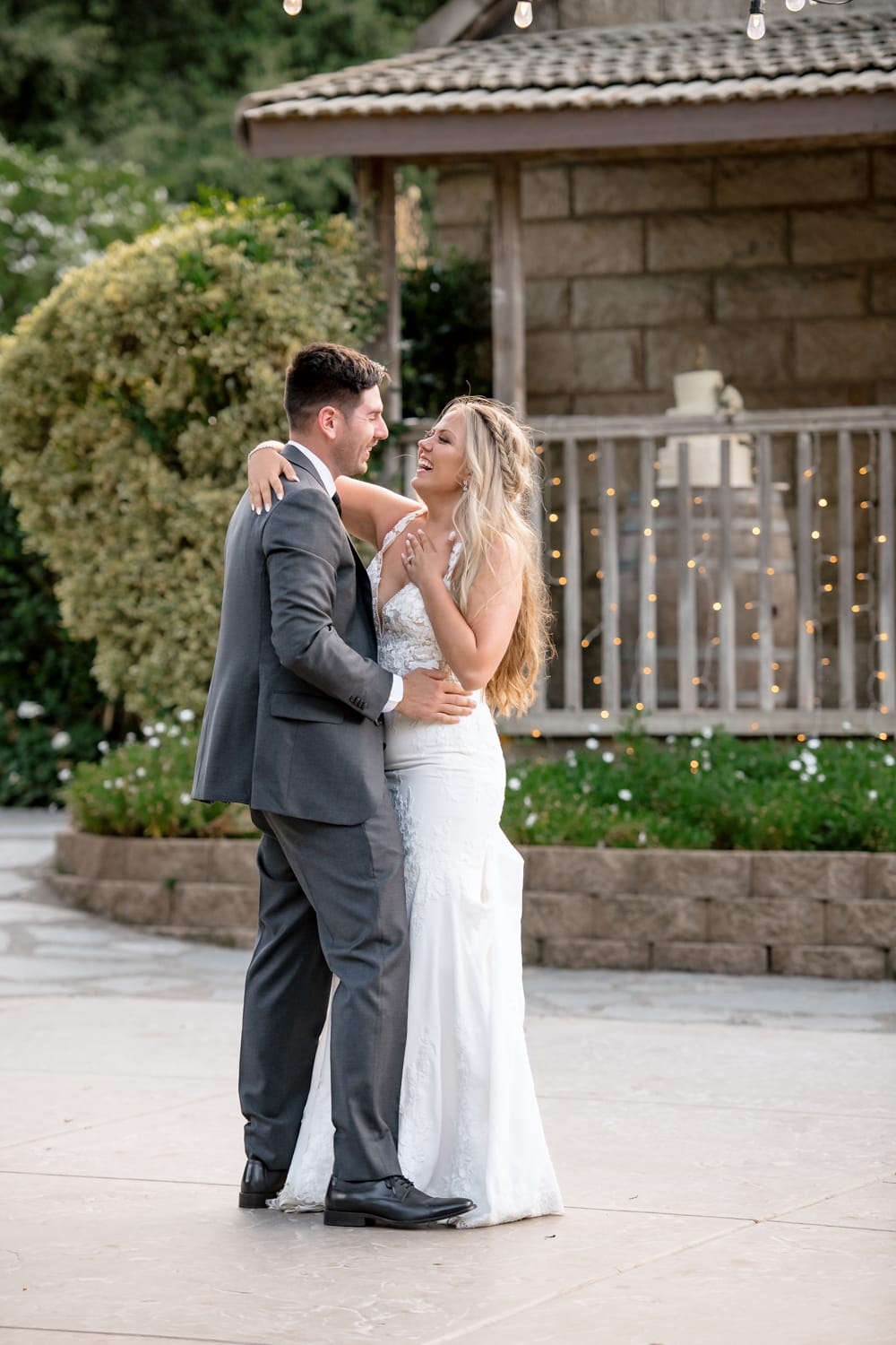 Couple having first dance at The Stone House wedding venue