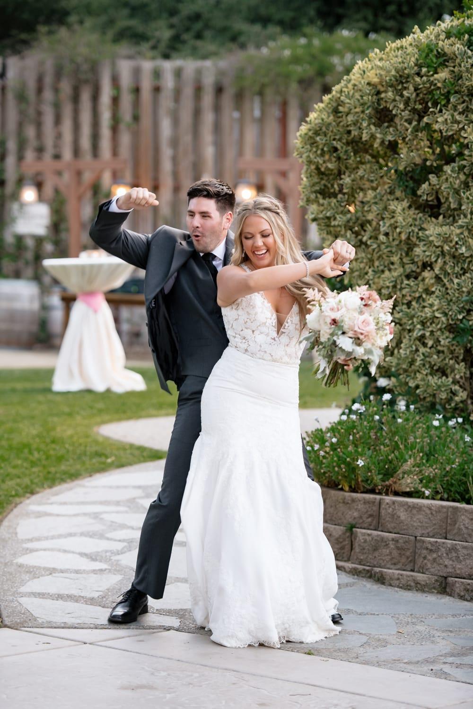 Grand entrance in wedding reception at Temecula Creek Inn