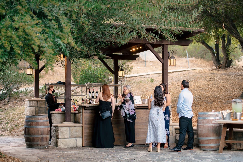 The bar at The Stone House at Temecula Creek Inn