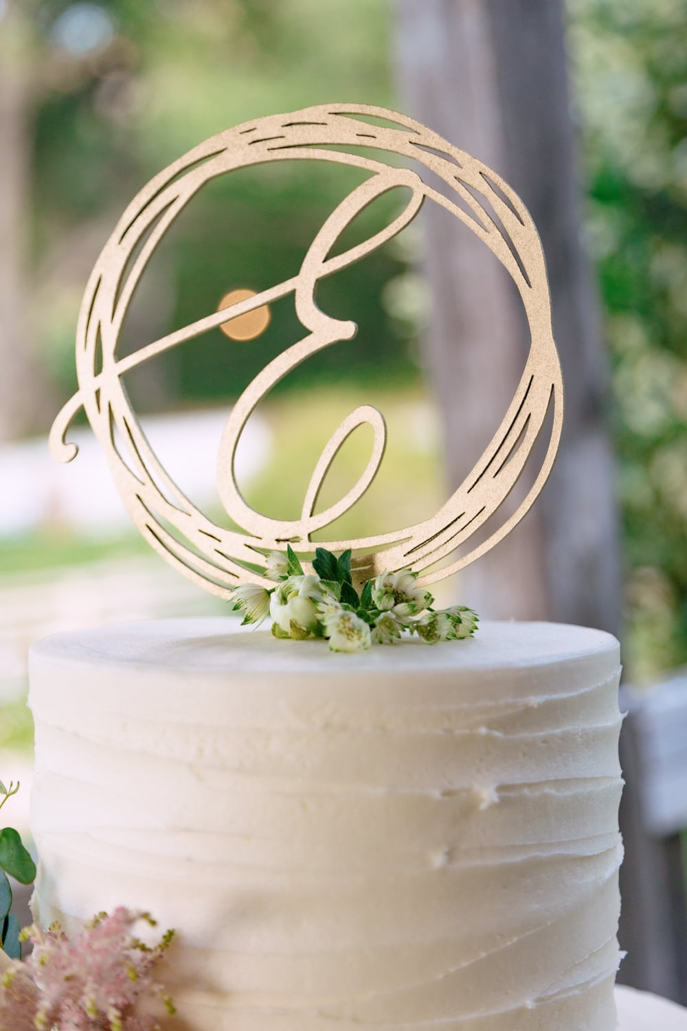Wedding cake topper at The Stone House in Temecula, CA