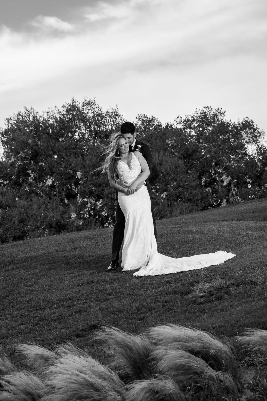 Bride and groom portraits at The Temecula Creek Inn