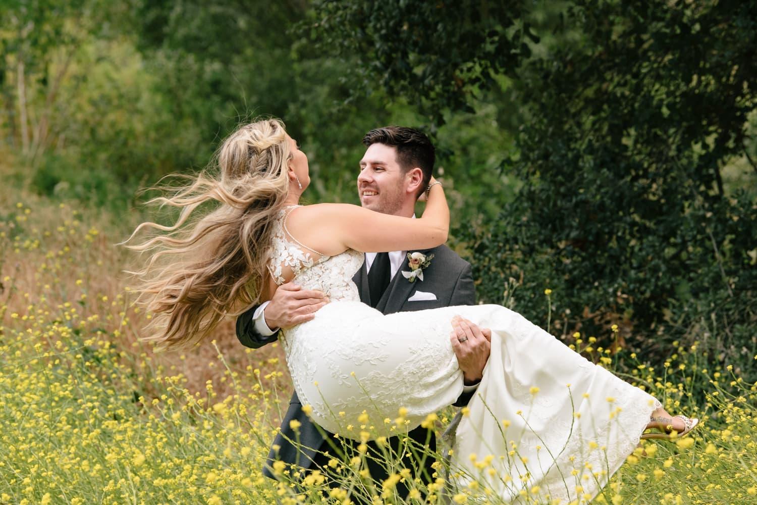 Bride and groom at The Stone House at Temecula Creek Inn