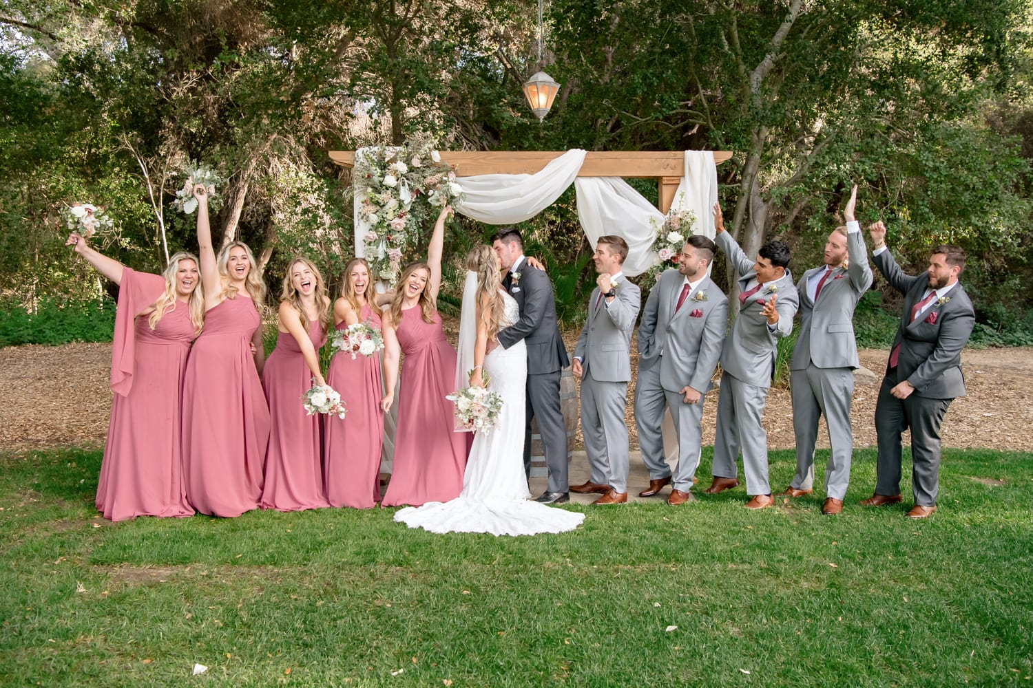 Bridal party photos at The Stone House wedding venue in Temecula, CA