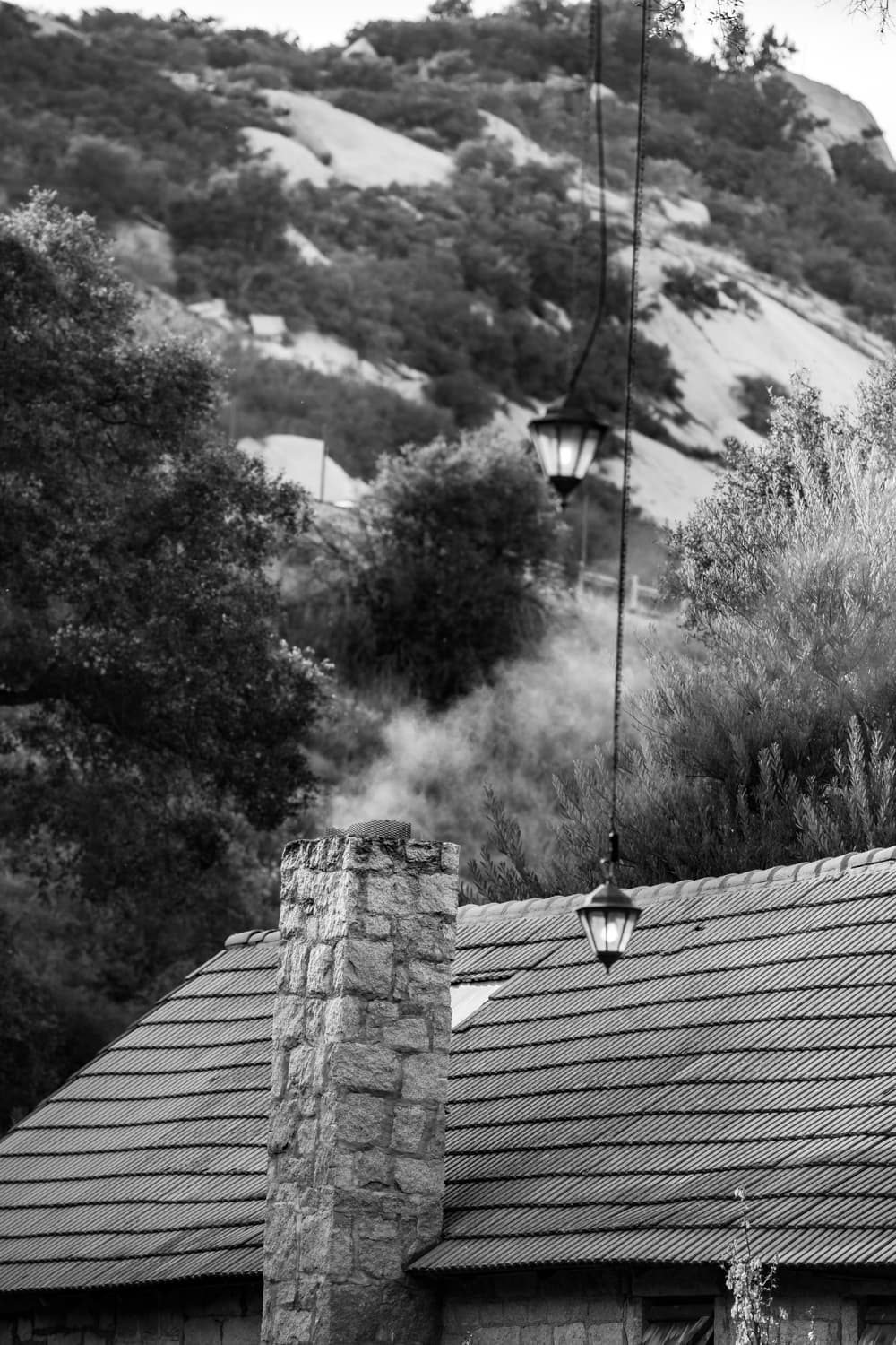 Chimney stack on The Stone House in Temecula, CA