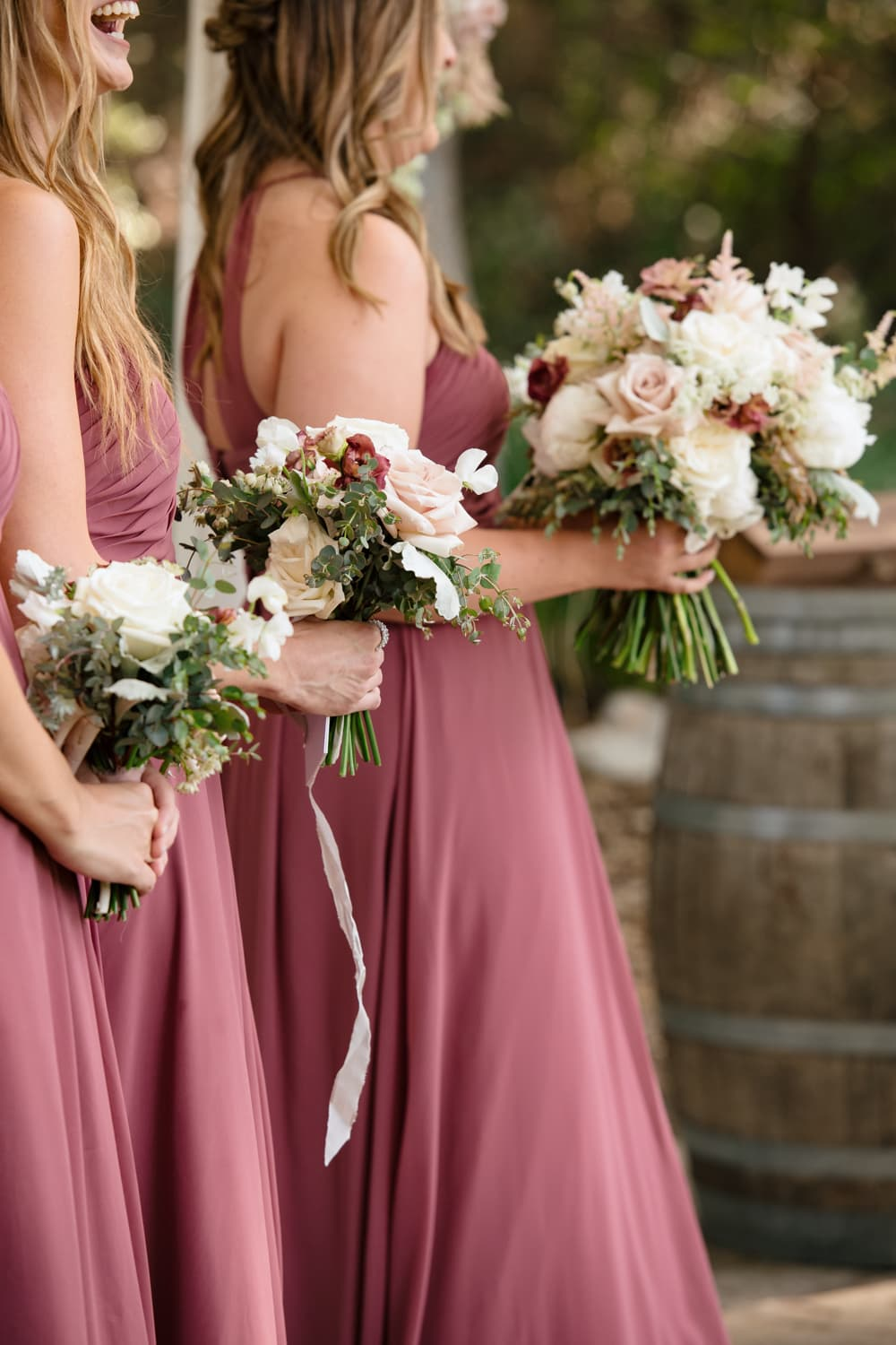 Bridesmaids bouquets at The Stone House in Temecula, CA
