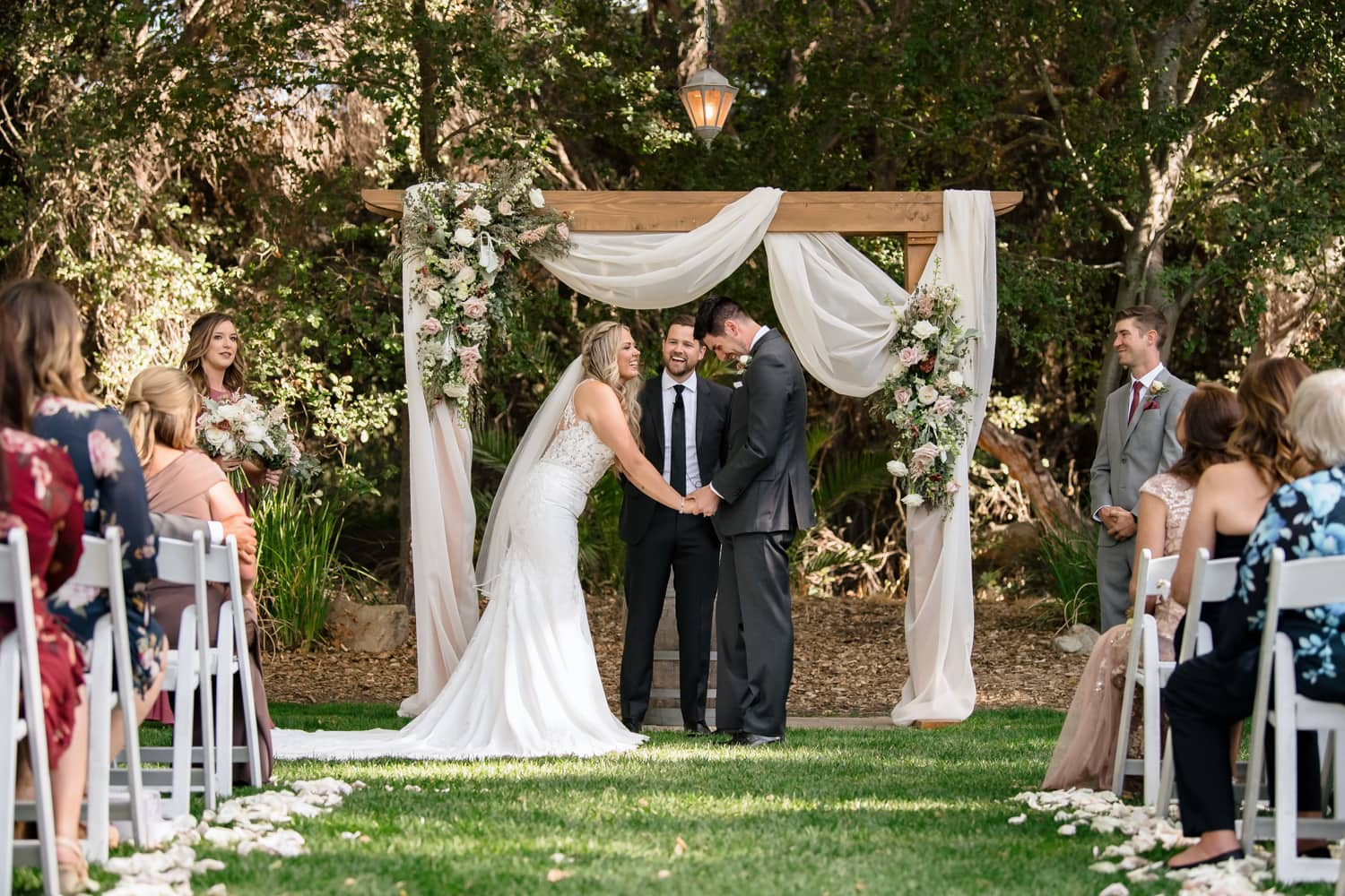 Bride and groom at Stone House wedding ceremony